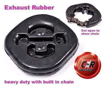 A Pair of Heavy Duty Exhaust Rubbers with Built-in Chain ERSHD