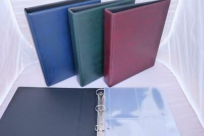 Large Guardian Postcard Album With 10 Pages Sleeves 4 Per Page Red Green Blue