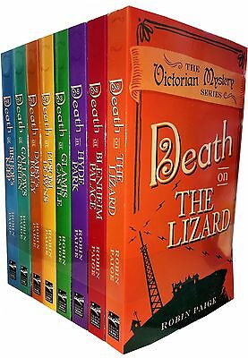 Robin Paige Victorian Mystery Series 8 Books Collection Set Death in Hyde Park