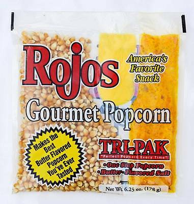 Gourmet Popcorn Tri-Pack Portion pack for 4 oz Popcorn machine popper