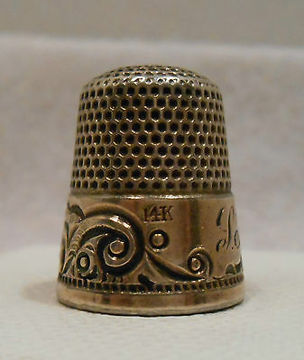 Antique Sterling Silver & 14K Gold Thimble by Ketcham & McDougall *Circa 1880s