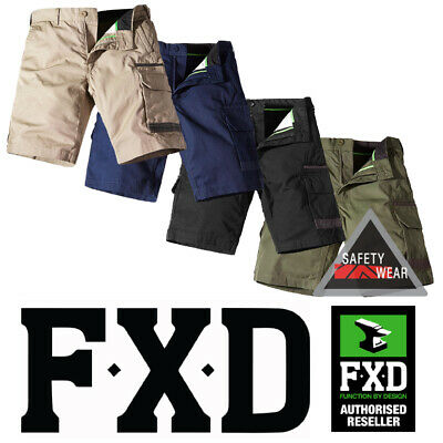 FXD WS-1 Workwear Shorts Cargo Dura500- Khaki Navy Black Green 100% Cotton