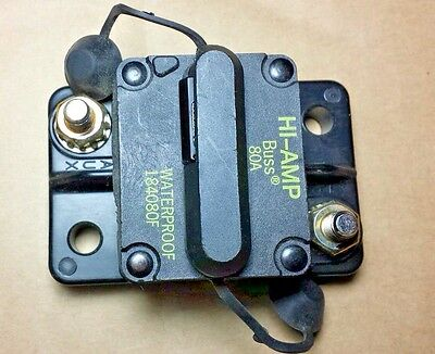 80 Amp HI-AMP BUSSMANN  BUSS CIRCUIT BREAKER 184080F Manual Reset waterproof NEW