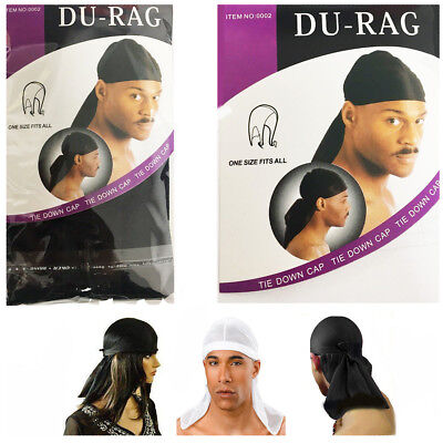 Men's Durag Bandanna Sports Du Rag Scarf Head Band Rap Tie Down Band Biker Cap