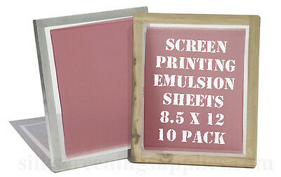 "Emulsion Sheets - 10 Pack 8.5""x12"""