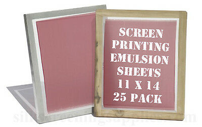"Yudu Style Emulsion Sheets - 25  Pack - 11""x14"""