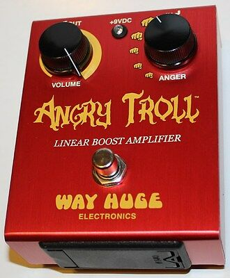 Way Huge Angry Troll Linear Boost Amplifier Pedal,WHE101,New,Free Shipping