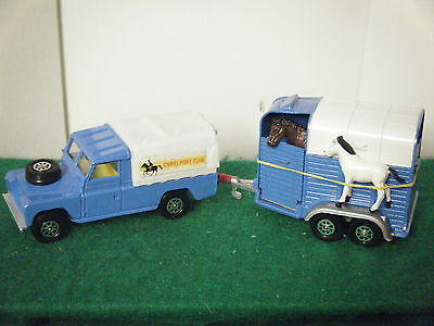 "Corgi No: 15 ""Land-Rover & Rice's Double Horsebox Gift Set"" (1973)"