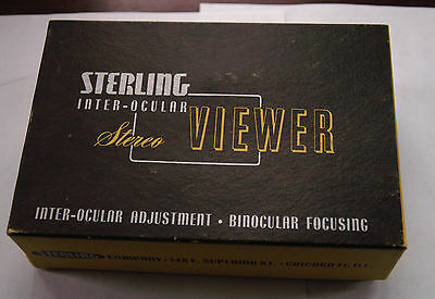 Sterling Inter-Ocular Stereo Viewer with Original Box