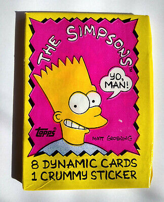 Unopened Pack 1990 The SIMPSONS TV Show Cartoon Cards ~ Bart Homer Marge Maggie