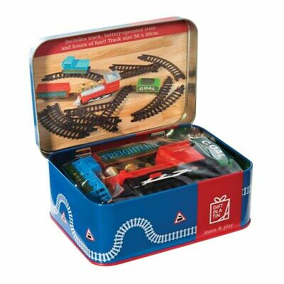 Apples To Pears Gift In a Tin- Battery Train & track Fun Kids Set *FREE DELIVERY
