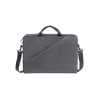 RIVACASE 8730 Grey Polyester Bag with Adjustable Strap for 15.6 Inch Laptops
