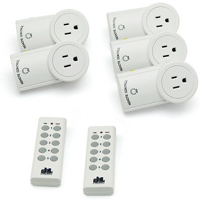 1,2,3,5 Pack Wireless Remote Control Light Switch Outlet Plug Socket W/ Remote