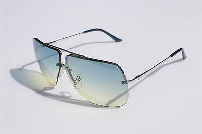 New Celebrity Aviator Sunglasses Green Gradient lens Oceanic metal rimless Sexy