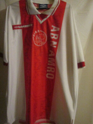 Ajax 1997-1998 Match Worn Home Football Shirt Size Extra large /15426