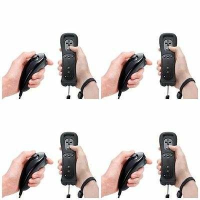 Lot 4 Remote and Nunchuck Controller for Nintendo Wii Game + Case Skin Black US