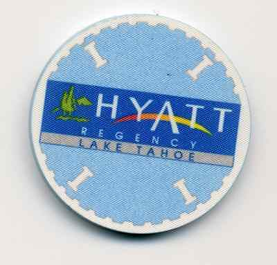 HYATT REGENCY  LAKE TAHOE ROULETTE   CASINO CHIP
