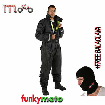 Waterproof One 1 Piece Over Suit Oversuit Full Reflective Motorbike Free Bc