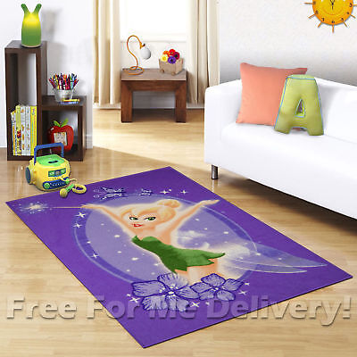 KIDS EXPRESS TINKERBELL FAIRY PURPLE FLOOR RUG (XS) 100x150cm **FREE DELIVERY**