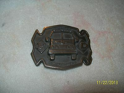 AMERICAN FIREFIGHTERS BRASS BELT BUCKLE FD2