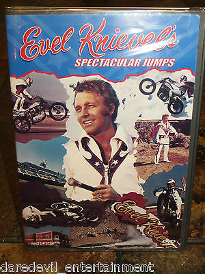 "DVD of Evel Knievel's ""Spectacular Jumps""..INCREDIBLE FOOTAGE..watch HISTORY!!!"