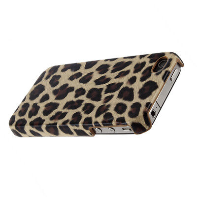 Leopard Animal Prints Hard Back Case Cover Skin Protector for iPhone 4 4S M2