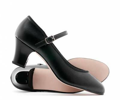 """Ladies Black Character Stage Showtime Dance Shoes All Sizes 2"""" Heel By Katz"""