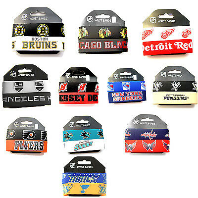 NHL rubber wrist band fan bracelet silicone 2 pack PICK your team