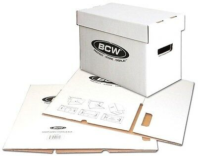 10 Short Comic Storage Boxes NEW Cardboard BCW Quality Archival