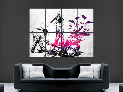 Banksy Graffiti  Style  Giant Image Huge Large Wall Art Poster Picture