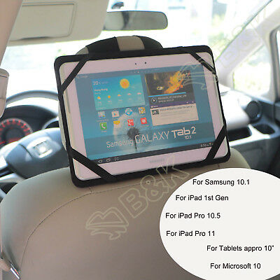 "PU Car Seat Headrest Mount Holder Strap Case 10"" Tablets iPad Pro 10.5 11 2018"