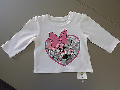 DISNEY Really Cute Little Minnie Mouse Long Sleeve Top 12-18 Months NWT