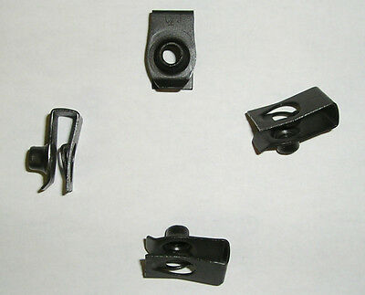 M6 U Clip on nut fastener foldover body fender 6mm Nut close to 1/4-20 Ford New