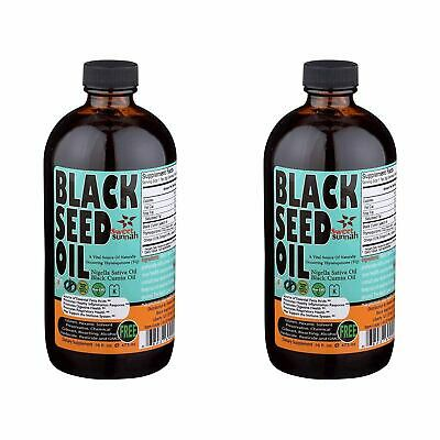2 X Organic Black seed oil 16 oz (100% Pure Cold-Pressed )GLASS BOTTLES