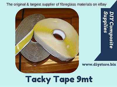 Tacky Tape, 9mt's (FREE FREIGHT), Black or Yellow (Depending on availability)