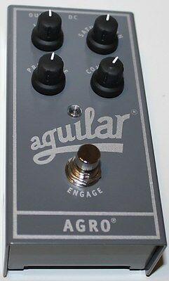 Aguilar Amplification AGRO Bass Overdrive Pedal, New, Free Shipping