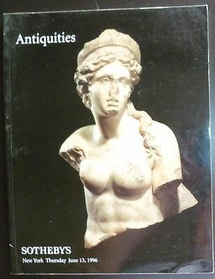 Auction Catalogue Sotheby's New York Antiquities June 13, 1996 Egypt Greek