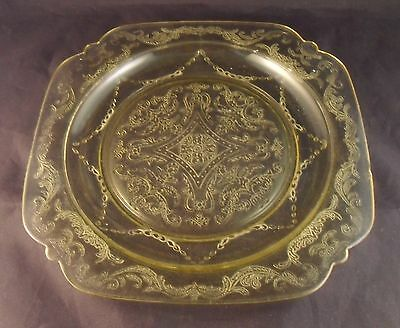 """MADRID AMBER – FEDERAL GLASS Square 8 7/8"""" LUNCHEON PLATE"""