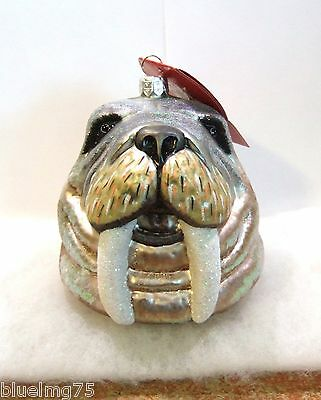 Slavic Treasures Ornament Walrus Head NIB (R15)
