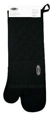 Stellar Black Cooking Double Oven Glove With Thumbs