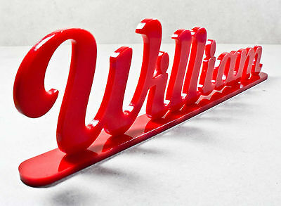 Personalised Free Standing Acrylic Name Signs Plaque Home Desk Party Family