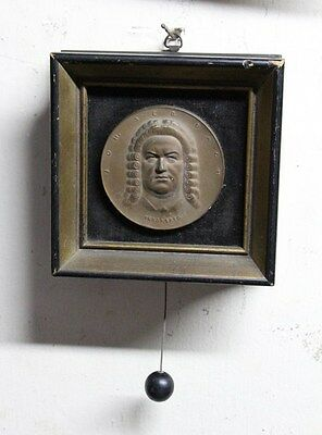 Very interesting and rare old framed plaque music box  working  Bach Listen it !