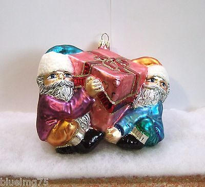 Slavic Treasures Ornament Four Hands Required Elves Present MIB (S5)