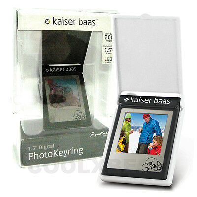 New Kaiser Baas White Signature Led Lcd Digital Photo Frame Keyring Gr Gift