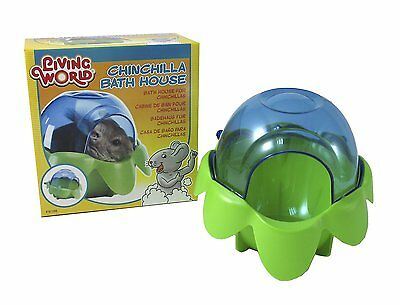 Living World Chinchilla Small Animal Cage Dust Sand Bath House Clean 61398