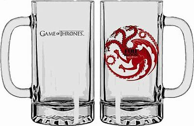 NEW* Game of Thrones TARGARYEN Fire & Blood DRAGON Glass Stein - Beer - ONE ONLY