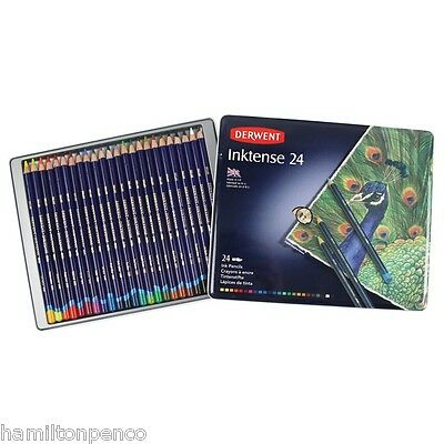 DERWENT INKTENSE TIN of 24 pure, vibrant colour pencils