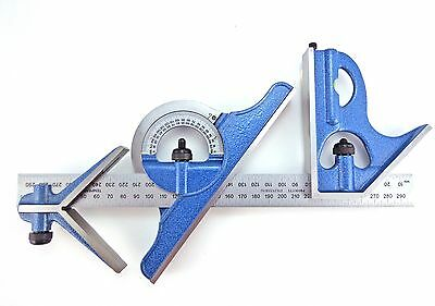 PEC 600 mm Metric 4 pc combination square rev protractor mm & .5 mm both sides