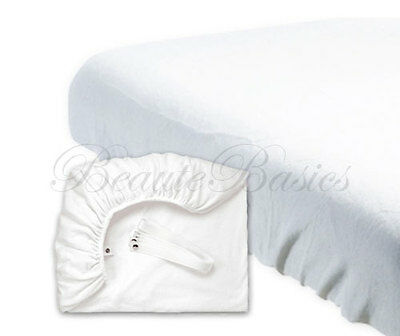 Terry Fitted Sheet with Straps Massage Table Sheets - #BD1021x1