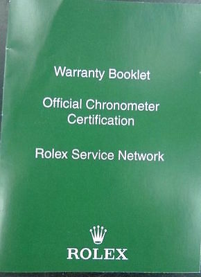 Rolex 563.83 Warranty Service Network Booklet In Nice Condition.